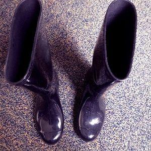 Ugg Sienna Rain Boots Size 7 Black